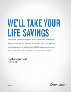 frost bank advert - Google Search