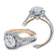 Verragio Halo Rose Gold Diamond Engagement Ring