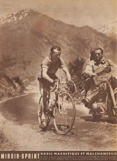 73a533a0c5ac82 Jean Robic climbing the col du Telegraphe, at the 1952 Tour de France.