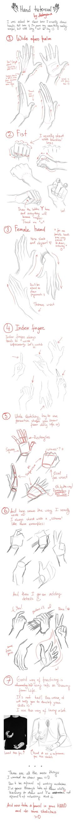 Hände zeichnen lernen Hands tutorial (Hands are the worst, this will definitely come in handy. No pun intended) Drawing Skills, Drawing Lessons, Drawing Techniques, Drawing Tutorials, Drawing Tips, Art Tutorials, Drawing Sketches, Painting & Drawing, Art Drawings