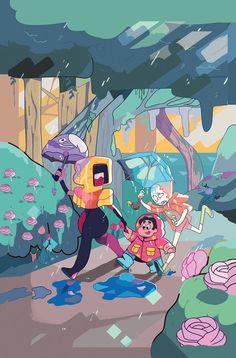 Steven e a gems Steven Universe Anime, Steven Universe Wallpaper, Steven Universe Characters, Steven Universe Drawing, Steven Universe Funny, Universe Art, Cartoon Shows, Cartoon Art, Cartoon Characters