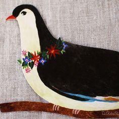 SOLD OUT - ai. AIKO FUKAWA Die-Cut Bird Greeting Card | UGUiSU Online Store