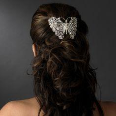 Affordable Elegance Bridal - Dazzling Crystal Butterfly Wedding Barrette - sale!, $56.99 (http://www.affordableelegancebridal.com/dazzling-crystal-butterfly-wedding-barrette-sale/)