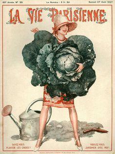 hoodoothatvoodoo:  La Vie Parisienne August 1927 Illustration by Cheri Herouard  adorable