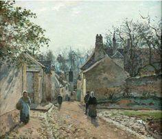 Rue de Voisins by Camille Pissarro