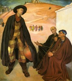 Diego Rivera (Mexican, 1886-1957), The Old Ones, 1912. Oil on canvas. Museo Dolores Olmedo Patino, Mexico City.