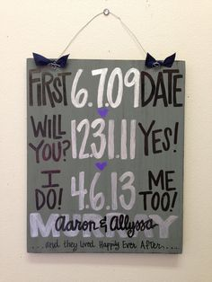 Hey, I found this really awesome Etsy listing at http://www.etsy.com/listing/130749535/custom-hand-painted-wedding-anniversary