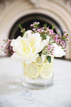 How To: Make a Citrus Flower Arrangement | http://hellonatural.co/how-to-make-a-citrus-flower-arrangement/