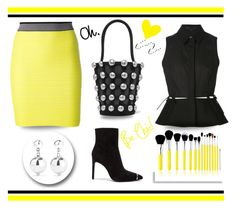 """""""Yellow and black"""" by outfitsloveyou ❤ liked on Polyvore featuring Alexander Wang, Sophie Buhai and Bliss & Grace"""