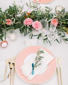 A Colorful Affair at Terranea Resort with Pink and Gold Tablescapes Classic Wedding Flowers, Winter Wedding Colors, Rose Wedding, Summer Wedding, Peonies Wedding Centerpieces, Wedding Decorations, Pink Wedding Receptions, Wedding Tables, Wedding Ceremony