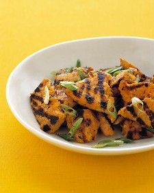 Grilled Sweet Potatoes with Scallions - Martha Stewart Recipeshttp://www.marthastewart.com/336994/grilled-sweet-potatoes-with-scallions?czone=food/best-grilling-recipes/side-dishes-and-desserts=276943=275669=282743