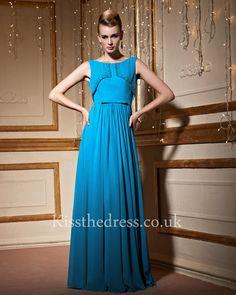 Blue Sleeveless Long