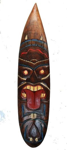 details zu hawaii masken tiki aloha 50cm bar deko schild s dsee wandbrett wandmaske bali deko. Black Bedroom Furniture Sets. Home Design Ideas