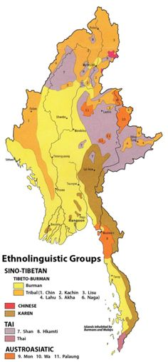 an ethnolinguistic map of burma