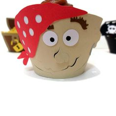 Pirate Cupcake Wrappers  set of 12 by cakeadoodledoo on Etsy, $18.00