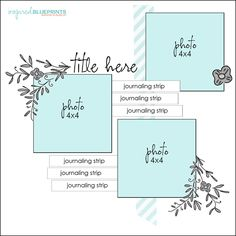 Scrapbook Sketch 3 Photos Room for a Title, Journaling/ Word Strip, and Embellishments. Scrapbook Layout Sketches, Scrapbook Templates, Scrapbook Designs, Card Sketches, Scrapbook Paper Crafts, Scrapbooking Layouts, Wedding Scrapbook, Baby Scrapbook, Scrapbook Albums