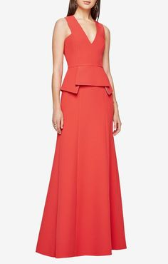 Evening gown fashions. Disclosure: I'm an affiliate marketer. When you click on the link to the retailer, I earn a commission. BCBGMAXAZRIA Alejandra Peplum Gown