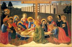 Fra Angelico - Lamentation over Christ, 1441 . religious painting. Museo di San Marco, Florence