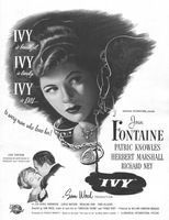 Ivy, Joan Fontaine 1947 Ad Picture
