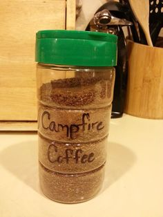 Campfire Coffee  2 cups powdered cocoa mix (8 packs of instant hot chocolate)  2 cups powdered coffee creamer  1 cup instant coffee  1 1/2 cups sugar  1 teaspoon cinnamon  1/2 teaspoon nutmeg   Directions:  Mix all ingredients and store in a re-sealable jar/can. Mix 2 heaping Tablespoons (1/3 cup) mix to 2/3 cup hot water.   Cinnamon and nutmeg can be substituted with 1 1/2 teaspoon Pumpkin Pie spice.