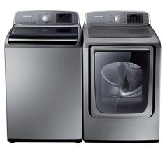 Samsung® Top-load King Size Capacity Washer and Front-Load Electric Dryer Set