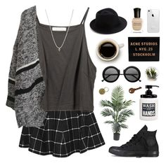 """""""without you i'm a lost boy"""" by ruthaudreyk ❤ liked on Polyvore featuring Boohoo, Avanti, Eugenia Kim, Acne Studios, Deborah Lippmann, Jayson Home and ASOS"""