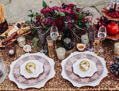 Romantic and Sparkling Dinner Proposal - Inspired By This - Styled shoot by Mood Events, LLC #floral #tablescape