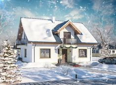 DOM.PL™ - Projekt domu ARP AMANT CE - DOM AP1-30 - gotowy koszt budowy Home Fashion, Cabin, Mansions, House Styles, Home Decor, Decoration Home, Manor Houses, Room Decor, Cabins