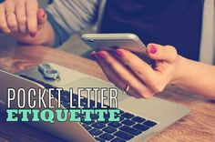 Pocket letters fall under the category of snail mail and penpals. Since pocket mail is a new thing, I think it's important to establish some guidelines or helpful suggestions, especially since many participating are new to the world of penpals in general. Here are 5 Pocket Letter Etiquette Tips that you might find helpful...