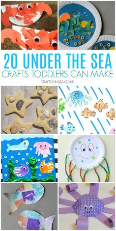 Easy under the sea crafts for toddlers and preschoolers perfect for an ocean unit Easy and fun under the sea crafts for toddlers perfect for an ocean unit! Create fish crafts, whale crafts, seahorse crafts, crabs, handprint crafts and more. Seahorse Crafts, Whale Crafts, Ocean Crafts, Fish Crafts, Under The Sea Crafts, Under The Sea Theme, Toddler Art, Toddler Crafts, Toddler Activities For Daycare