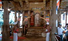 Inside Temple of the Tooth, Kandy