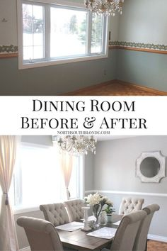 Dining Room Before and After, Ashley Furniture Tripton Dining Set | Bright dining room home decor and renovation idea. Click to see how I did it.