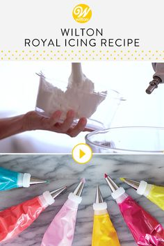 Watch and learn how to make the perfect royal icing recipe for making decorations that last! Royal icing is a smooth, hard-drying icing is perfect for making flowers, rosettes, and other decorations in advance. You can even use royal icing, sometimes called cookie icing, to cover and decorate cookies! #wiltoncakes #youtube #howto #tutorial #videos #bakingvideos #bakingdessertsvideos #cakedecoratingtutorials #buttercreamvideo #royalicingvideo #education #beginner #learning #beginnerideas