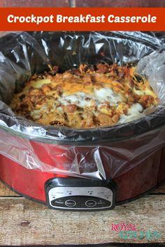 Crockpot Breakfast Casserole - An easy slow cooker breakfast recipe.