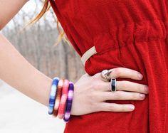 DIY Bracelet : DIY  wrapped ombré banglesele
