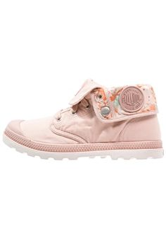 BAGGY - Lace-up boots - soft pink/cement gray