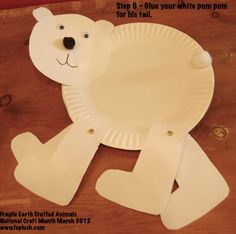 Winter Polar Bear Walking Craft
