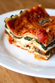 spicy kale lasagna by annieseats--this is my favorite! I make it with whatever veggies I have (zucchini, eggplant, spinach) and it's always delicious.