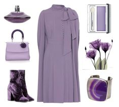 """How to dress Ultra-Violet #1"" by kjstylerussia on Polyvore featuring Valentino, Christian Dior, Dries Van Noten, Chanel, Romeo Gigli and Clinique"