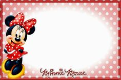 Minnie Mouse is a great birthday party theme for your girl's or baby girl's birthday party. Minnie Mouse show cute and great party ideas. It's quite important to tighten your money and making your own Minnie Mouse party invit Disney Diy, Disney Crafts, Disney Trips, Walt Disney, Minnie Mouse Birthday Invitations, Mickey Minnie Mouse, Disney Letters, Autograph Book Disney, Disney Printables