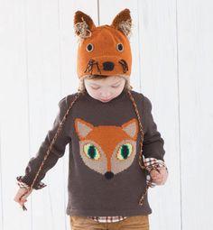 Modèle pull renard fille