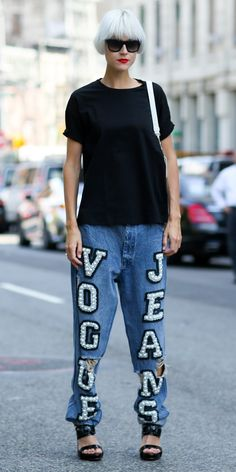 #NYFW Spring 2015 Street Style   Vogue Jeans Via IMAXTREE