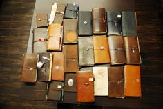 obsessed with this leather.... the stories they tell!  midori travel notebook