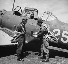 Cadet and instructor in USA 1942