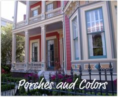 New Orleans Homes and Neighborhoods » New Orleans Garden District Homes-Porches and Colors are unique!