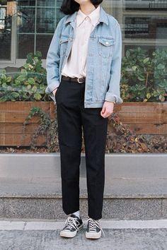 35 New ideas for style inspiration hipster teen fashion Korean Street Fashion, Asian Fashion, Look Fashion, Teen Fashion, Fashion Outfits, Womens Fashion, Fashion Trends, Denim Fashion, Fashion Ideas