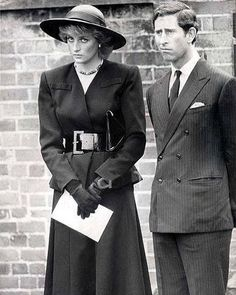 """203 Likes, 3 Comments - PrincessDiana (@dianaremembered) on Instagram: """"September 21, 1987. Princess Diana and Prince Charles at the Funeral of Lord Soames, son in law of…"""""""