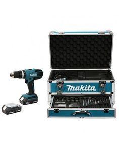 Perceuse visseuse à percussion Makita Ah coffret alu accessoires Work Tools, Music Instruments, Batteries, Couple, Radios, Gadgets, Products, Top, Women
