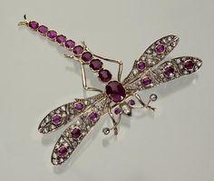 Libellen-Brosche.