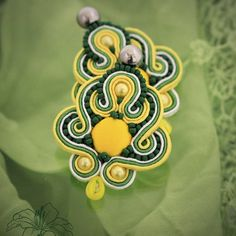 Soutache earrings Citrus | author: Zuzana Hampelova Valesova (Lillian Bann) | www.z-art-eshop.cz | http://www.facebook.com/pages/Z-ART/539656212733510